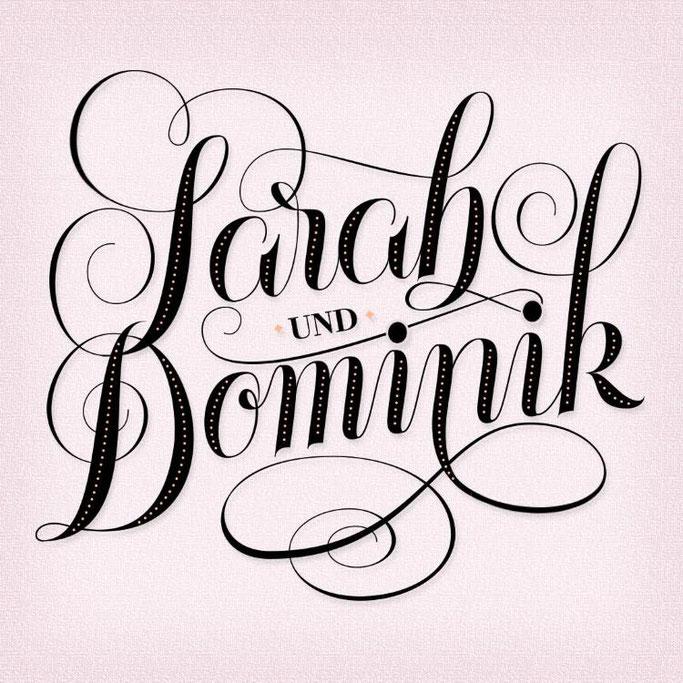 Letter Lovers sandra_graphics - Lettering Sarah und Dominik
