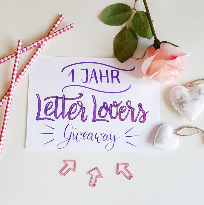 1 Jahr Letter Lovers! Das will gefeiert werden mit einem Gewinnspiel