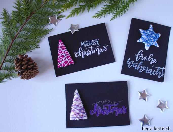 DIY Adventsbasteln: Weihnachtskarten selbermachen