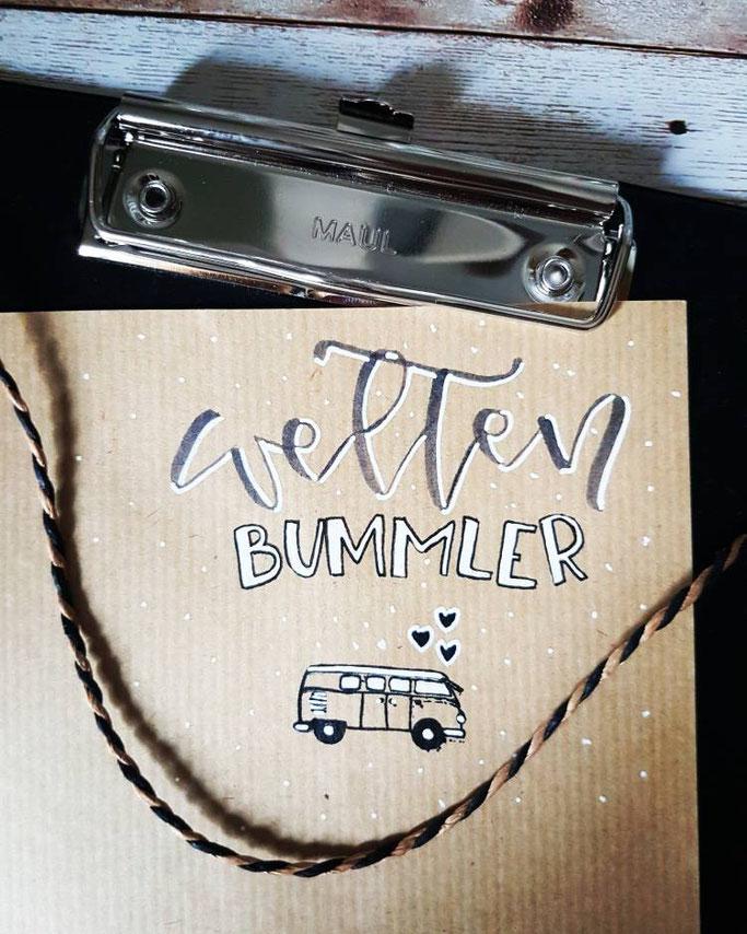 Letter Lovers mrs.b.letters: Handlettering Weltenbummler