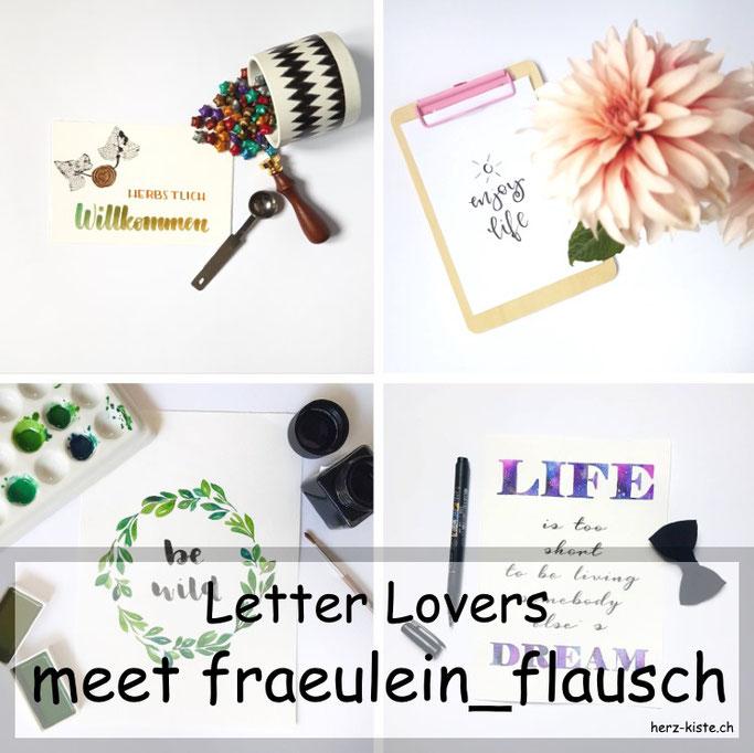 Letter Lovers - fraeulein_flausch zu Gast im Lettering-Interview mit einer Anleitung zum Blätter skelettieren
