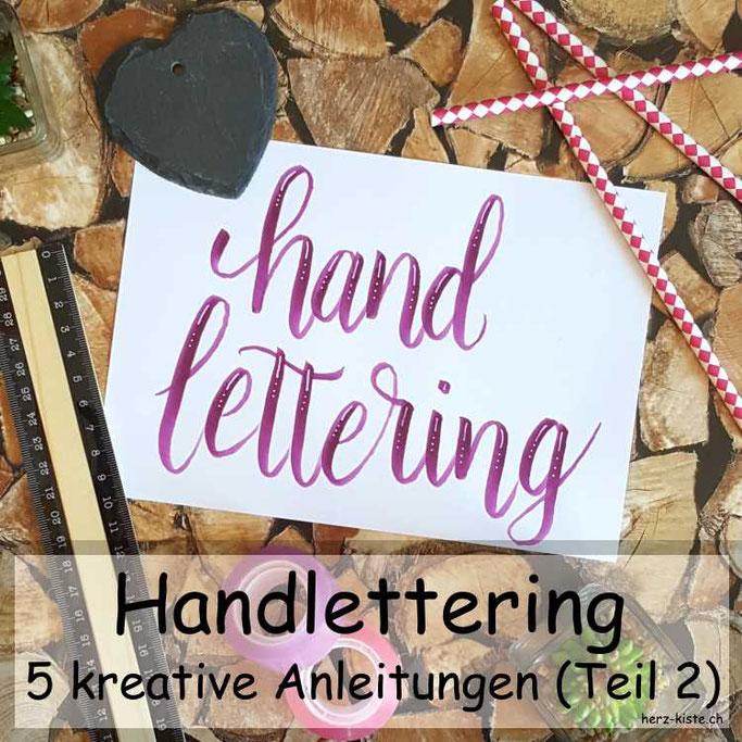 Leidenschaft Handlettering: Hier findest du 5 kreative Anleitungen für dein Lettering - zum verbessern, erweitern und Ideen, wie du Hintergründe fürs Handlettering gestalten kannst.