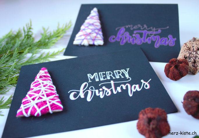 Merry Christmas - DIY Weihnachtskarte selbermachen