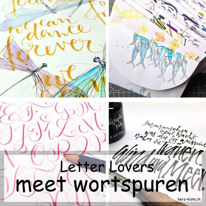 Letter Lovers in der Herz-Kiste: wortspuren zu Gast