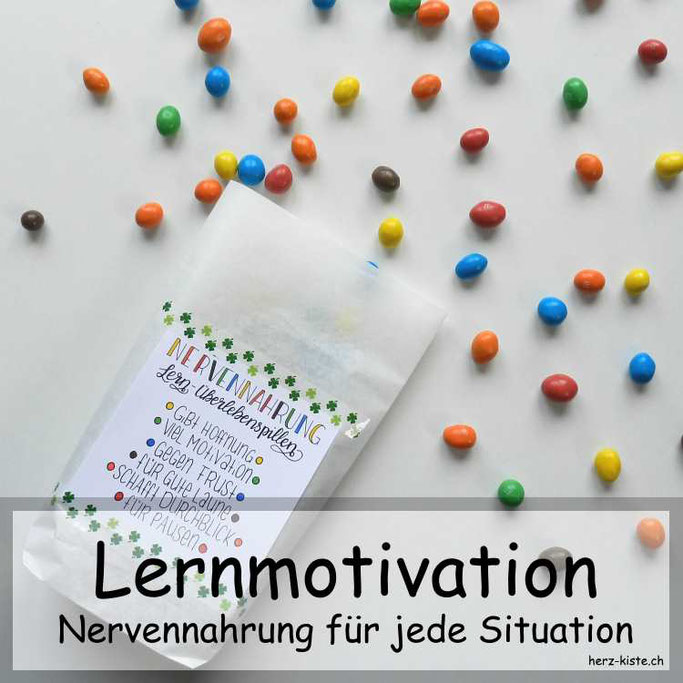 Lernmotivation schenken - Nervennahrung für jede Situation
