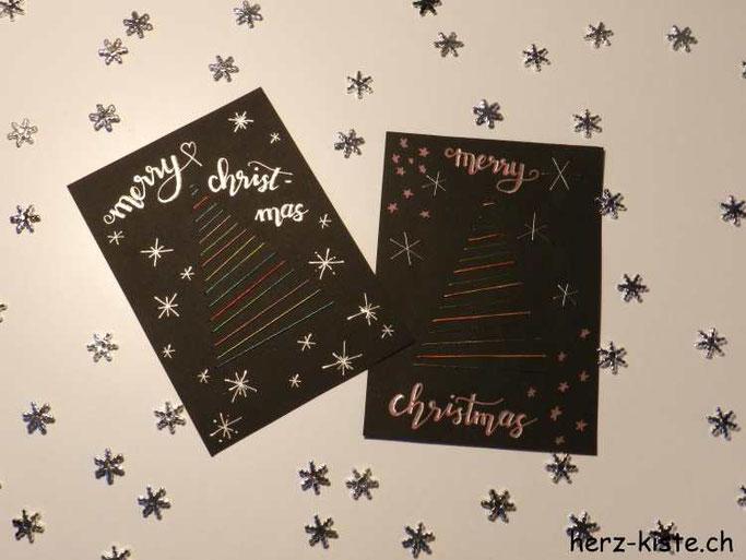 Weihnachtskarte Merry Christmas