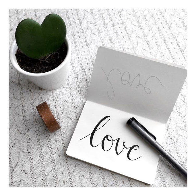 Letter Lovers michilicious: Handlettering love
