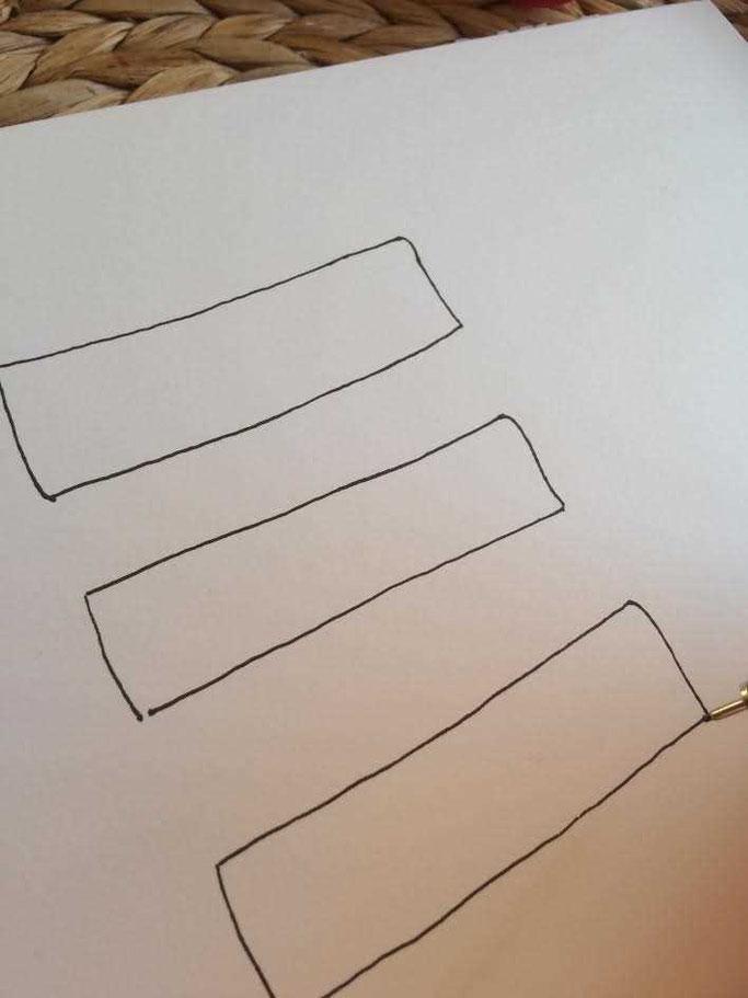 Letter Lovers aponi72: Handlettering Anleitung Banner zeichnen - Schritt 2