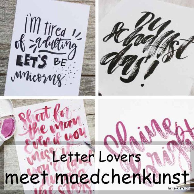 Letter Lovers in der Herz-Kiste: maedchenkunst zu Gast
