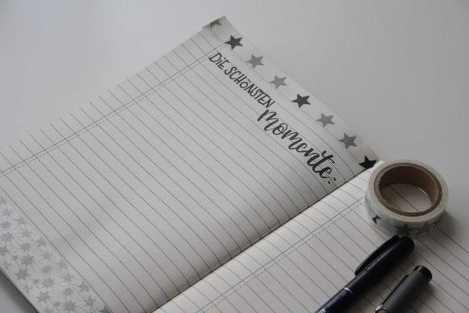 DIY Weihnachtsplanner mit Lettering - die schönsten Momente