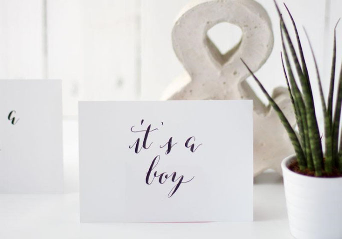 Letter Lovers annakalligraphie: Handlettering it's a boy