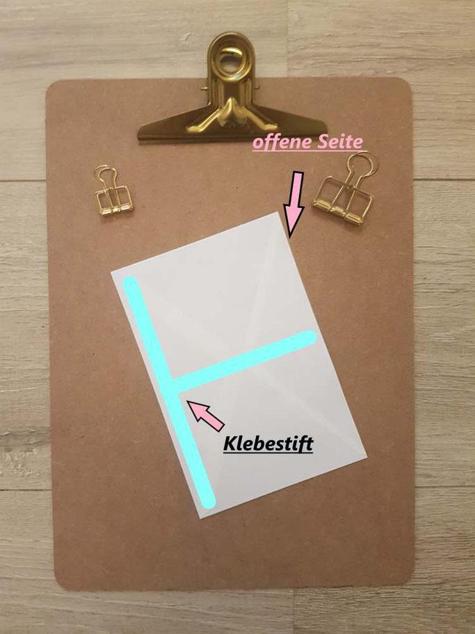 Tutorial: DIY Sammelmappe einfach selbermachen - Schritt 3 - zukleben - Letter Lovers mrs.b.letters