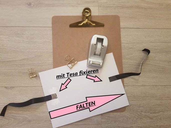 Anleitung wie du ganz einfach selber eine DIY Sammelmappe basteln kannst - Schritt 4 - Letter Lovers mrs.b.letters