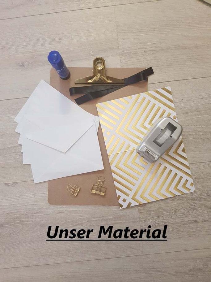 Anleitung für eine DIY Sammelmappe: Das Material (Letter Lovers mrs.b.letters) So kannst du deine Letterings einfach aufbewahren