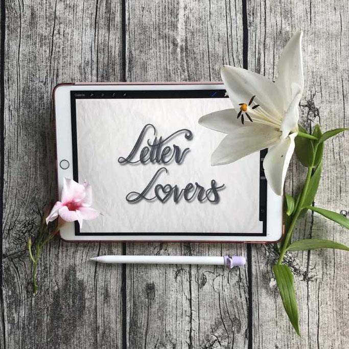 Letter Lovers stickynote.lettering: Handlettering Letter Lovers