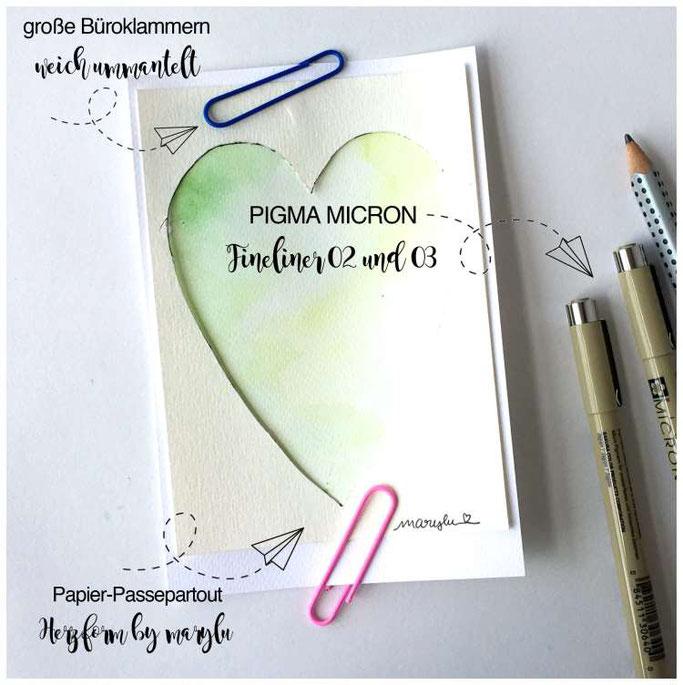 """Letter Lovers maryluskleinekunst: Anleitung für eine Herzkarte """"Mein liebes Kind"""" - Papier-Passepartout Herz"""