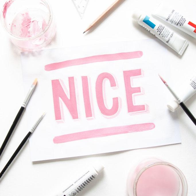 Nice Handlettering - Lettering NICE (lettering_by_mj bei den Letter Lovers)
