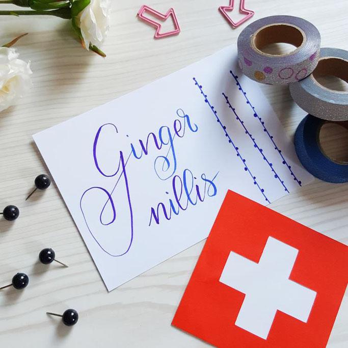 Gingernillis - schweizerdeutsches Lettering (Krimskrams)