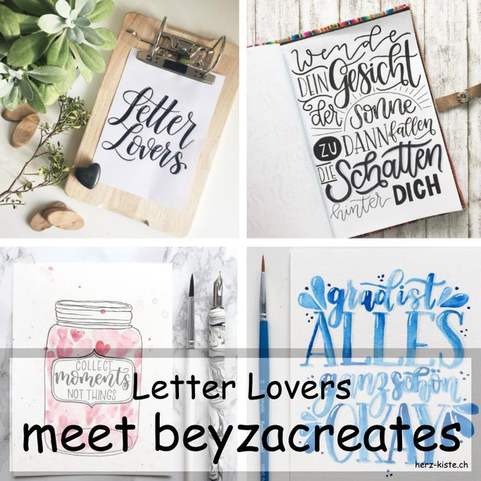 Letter Lovers in der Herz-Kiste: beyzacreates zu Gast mit einer Anleitung für ein DIY Klemmbrett - eine perfekte Idee um deine Letterings zu präsentieren!