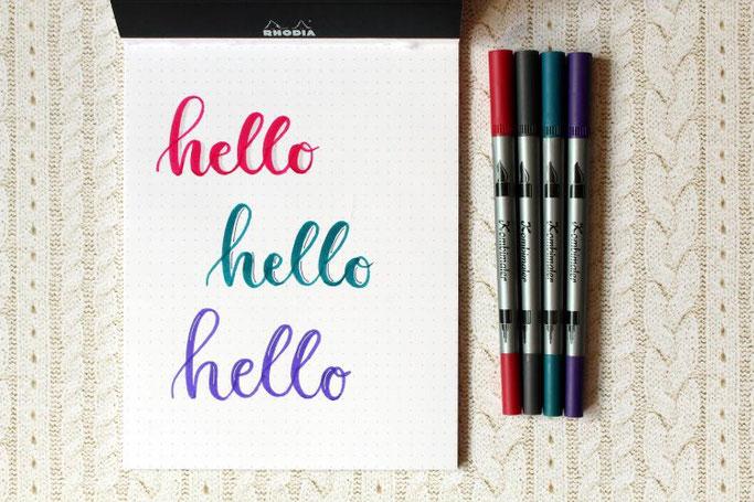 Letter Lovers michilicious: Handlettering Anleitung für Schatten beim Brushlettering