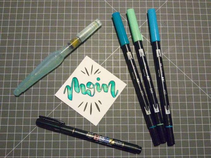 Letter Lovers kvittje: Anleitung zum Blending mit Brushpens