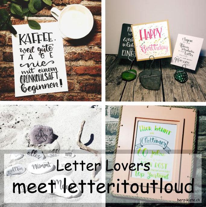 Letter Lovers - letteritoutloud zu Gast mit einer Anleitung für einen Lettering-Halter aus Steinen