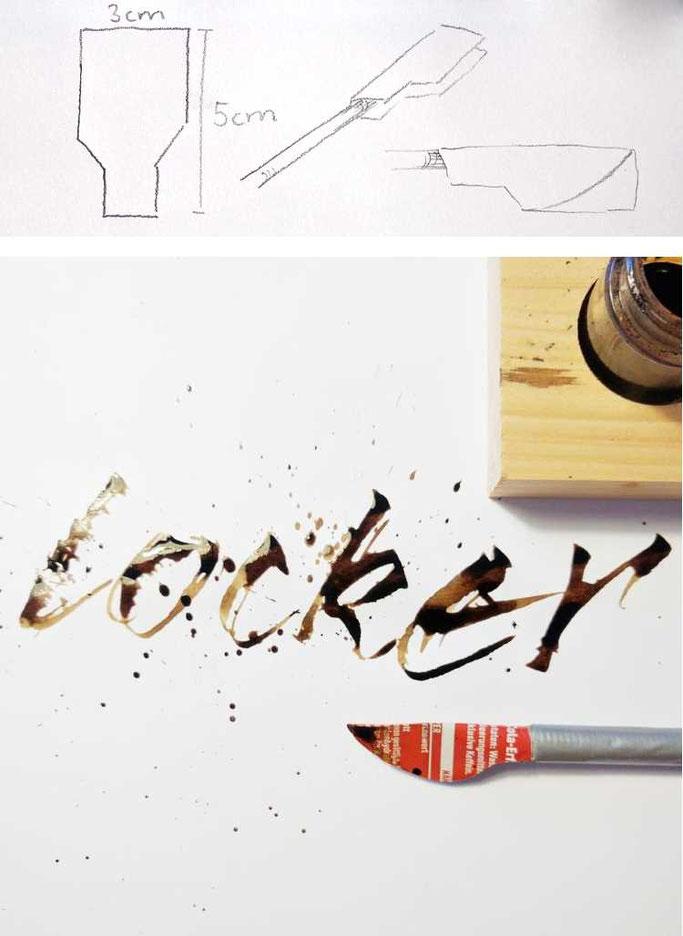 Handlettering Anleitung: Wie du mit einer selbstgemachten Colafeder einen speziellen Schreibstil hinbekommst