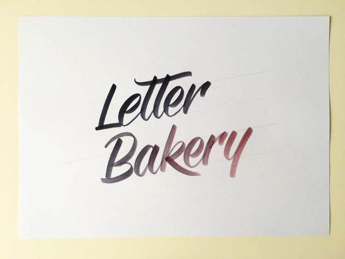 Letter Lovers _annalala_: Anleitung Farbverlauf Letter Bakery