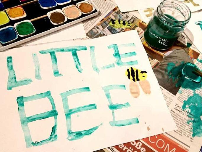 Letter Lovers mamsi.lila: Wäscheklammerkalligraphie Little Bee