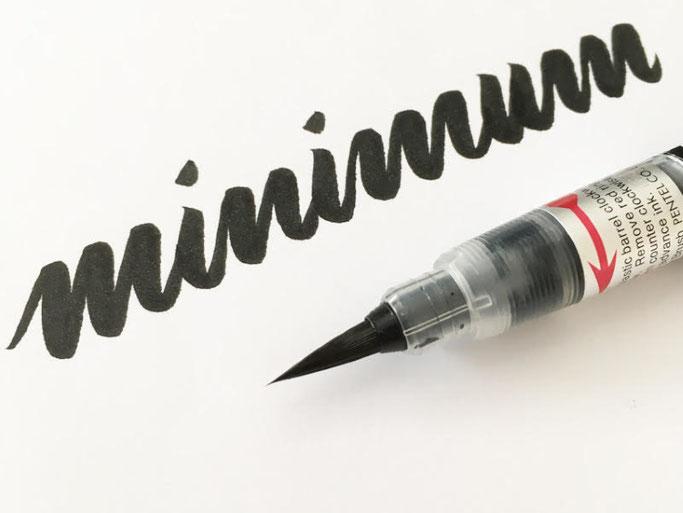 Letter Lovers robert_lettering: Anleitung Brush Lettering Basics für Anfänger - minimum
