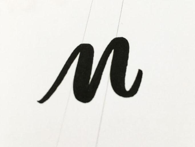 Letter Lovers robert_lettering: Anleitung Brush Lettering Basics für Anfänger - parallele Linien