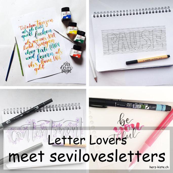 Letter Lovers in der Herz-Kiste: sevilovesletters zu Gast