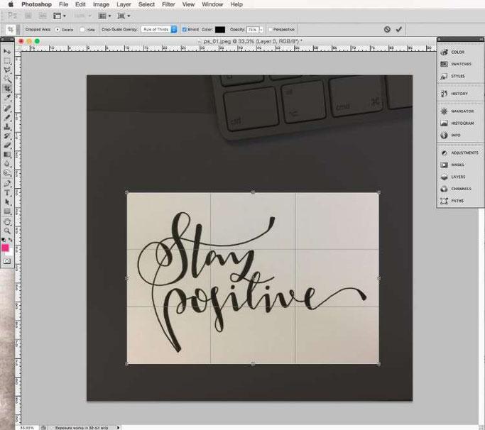 Lettering digitalisieren mit Photoshop - zuschneiden