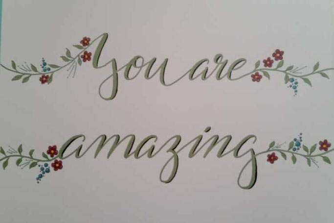 Letter Lovers sunnys_fotos: Handlettering Spruch You are amazing.