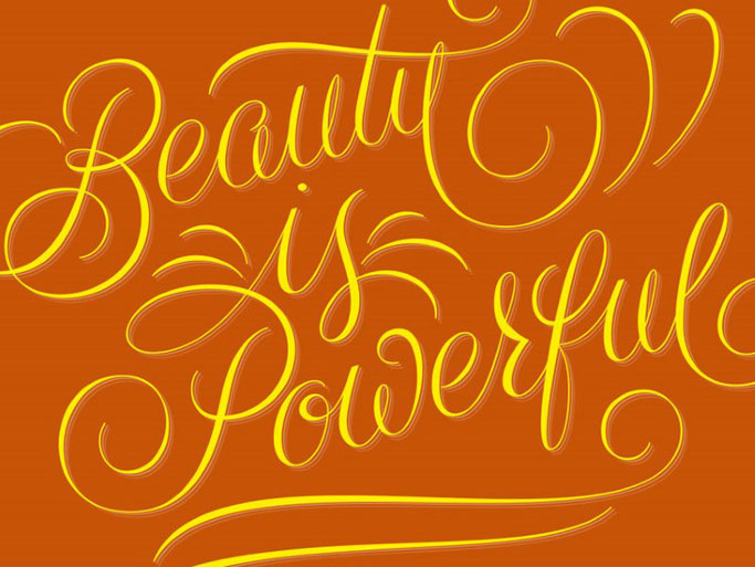 Letter Lovers robert_lettering: Handlettering Beauty is powerful