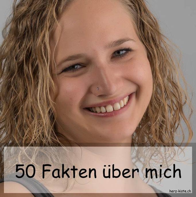 Blogartikel - 50 Fakten über mich mit einem Foto von mir