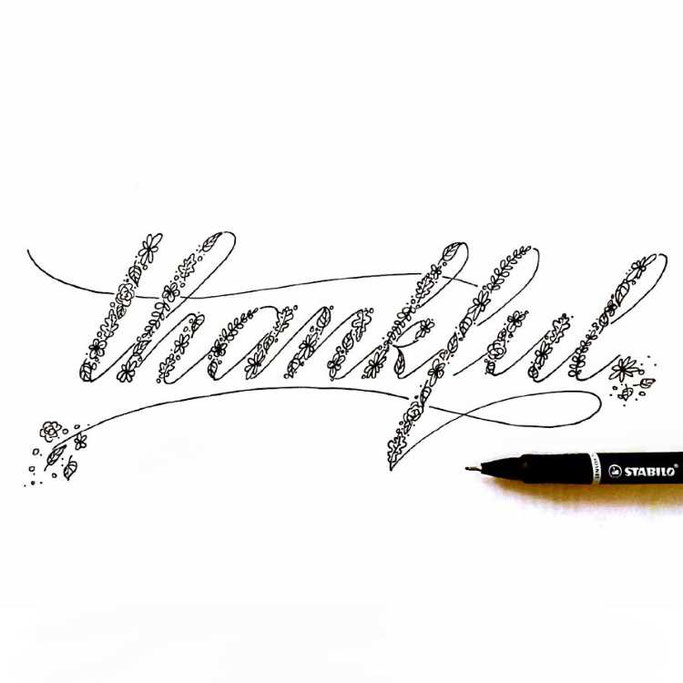 Letter Lovers frauleinausten: Handlettering thankful