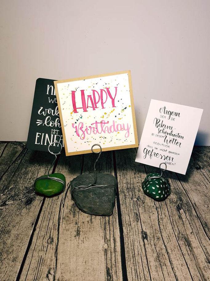 DIY Anleitung für einen Lettering-Halter aus Steinen und Draht - einfache Deko Idee zum selber machen