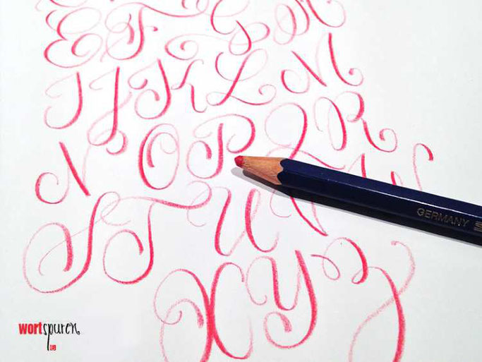 Letter Lovers Wortspuren: Handlettering Buntstiftlettering