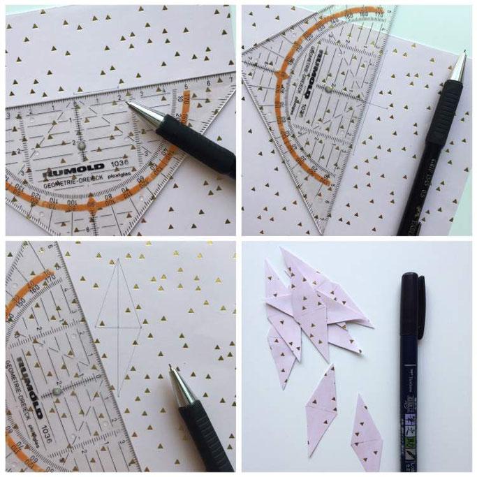 Anleitung für eine DIY Wimpelkette - wie du ganz einfach deinen Kuchen toll verzieren kannst (Letter Lovers somelovelyletters)