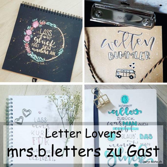 Letter Lovers in der Herz-Kiste: mrs.b.letters zu Gast mit einer Anleitung für eine DIY Sammelmappe