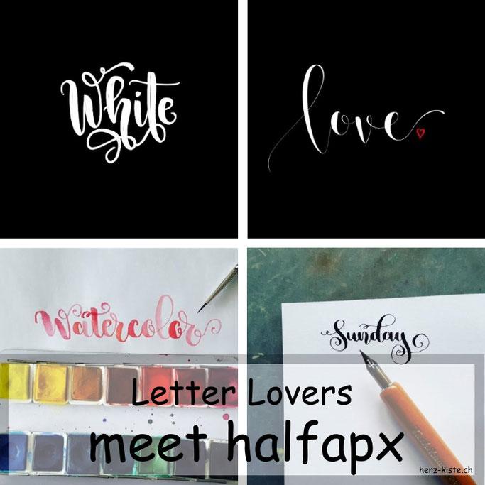 Letter Lovers in der Herz-Kiste: halfapx zu Gast