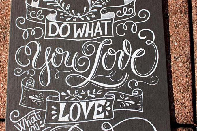 Letter Lovers sandra_graphics: Anleitung für ein Chalk Lettering auf Leinwand