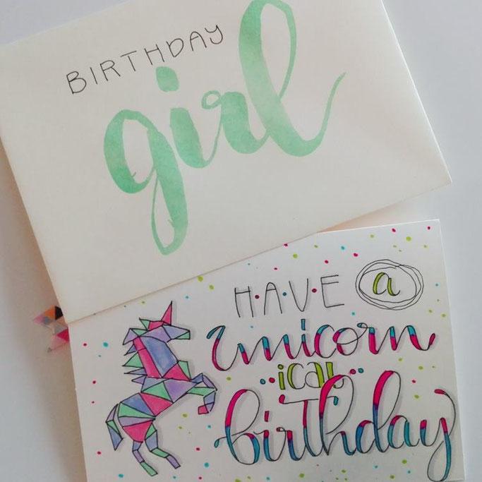 Geburtstagskarte lettern und mit Washi-Wimpeln aufpeppen - DIY Anleitung für die Letter Lovers von elsterchen