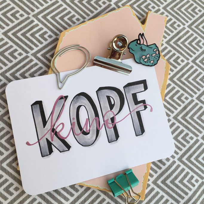 Handlettering: Kopfkino - cornlandart für die Letter Lovers