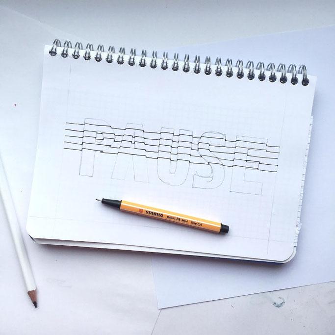 Letter Lovers sevilovesletters: Anleitung 3D-Lines Schritt 3