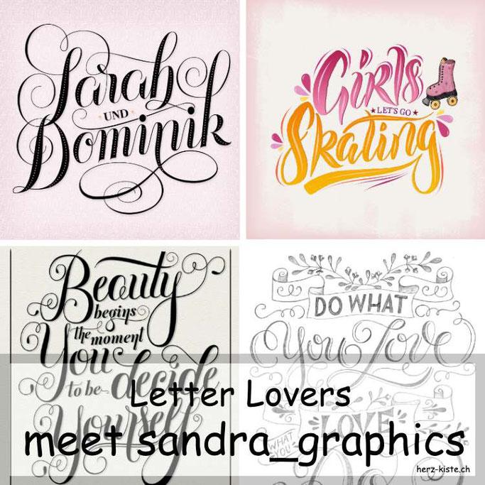 Letter Lovers - sandra_graphics zu Gast mit einer Anleitung für Chalk-Lettering auf einer Leinwand
