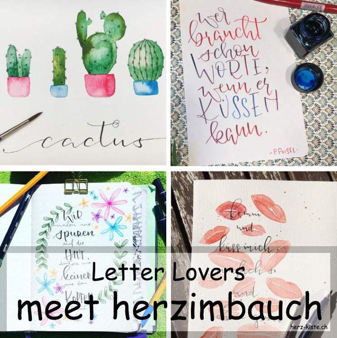 Letter Lovers herzimbauch zu Gast im Interview übers Lettering mit einer Anleitung für einen Watercolor Kaktus