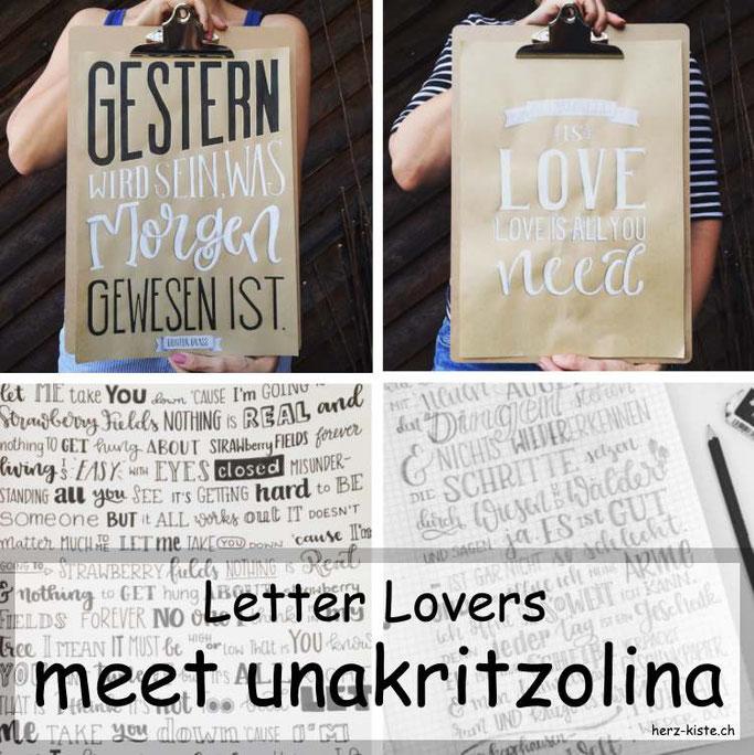 Letter Lovers in der Herz-Kiste: unakritzolina zu Gast