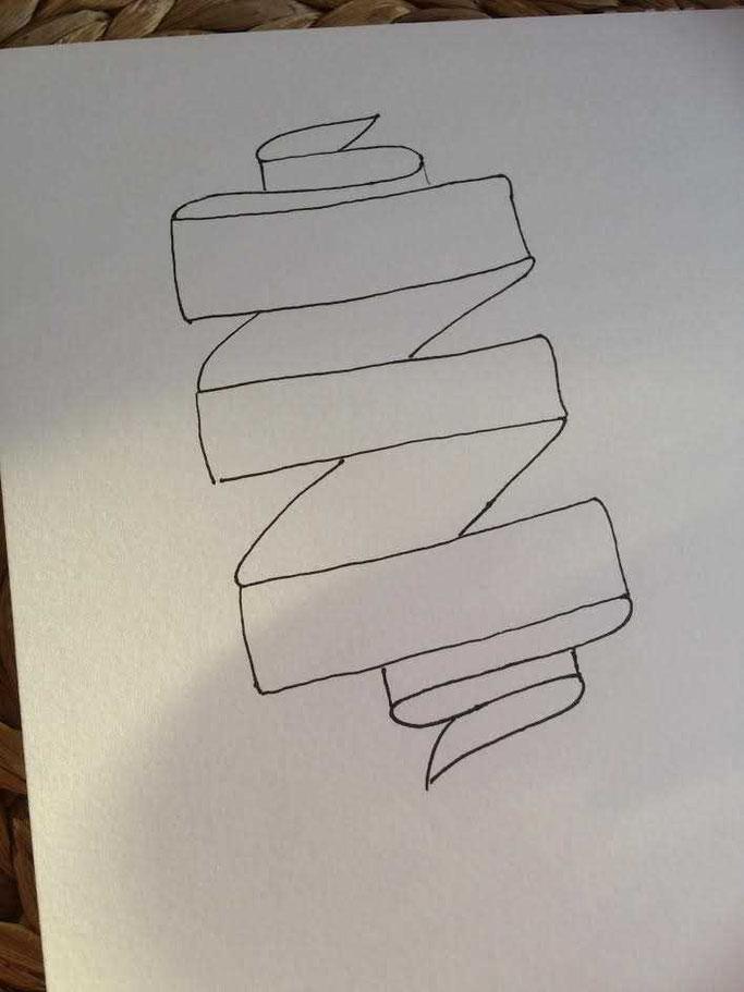 Letter Lovers aponi72: Handlettering Anleitung Banner zeichnen Schritt 3
